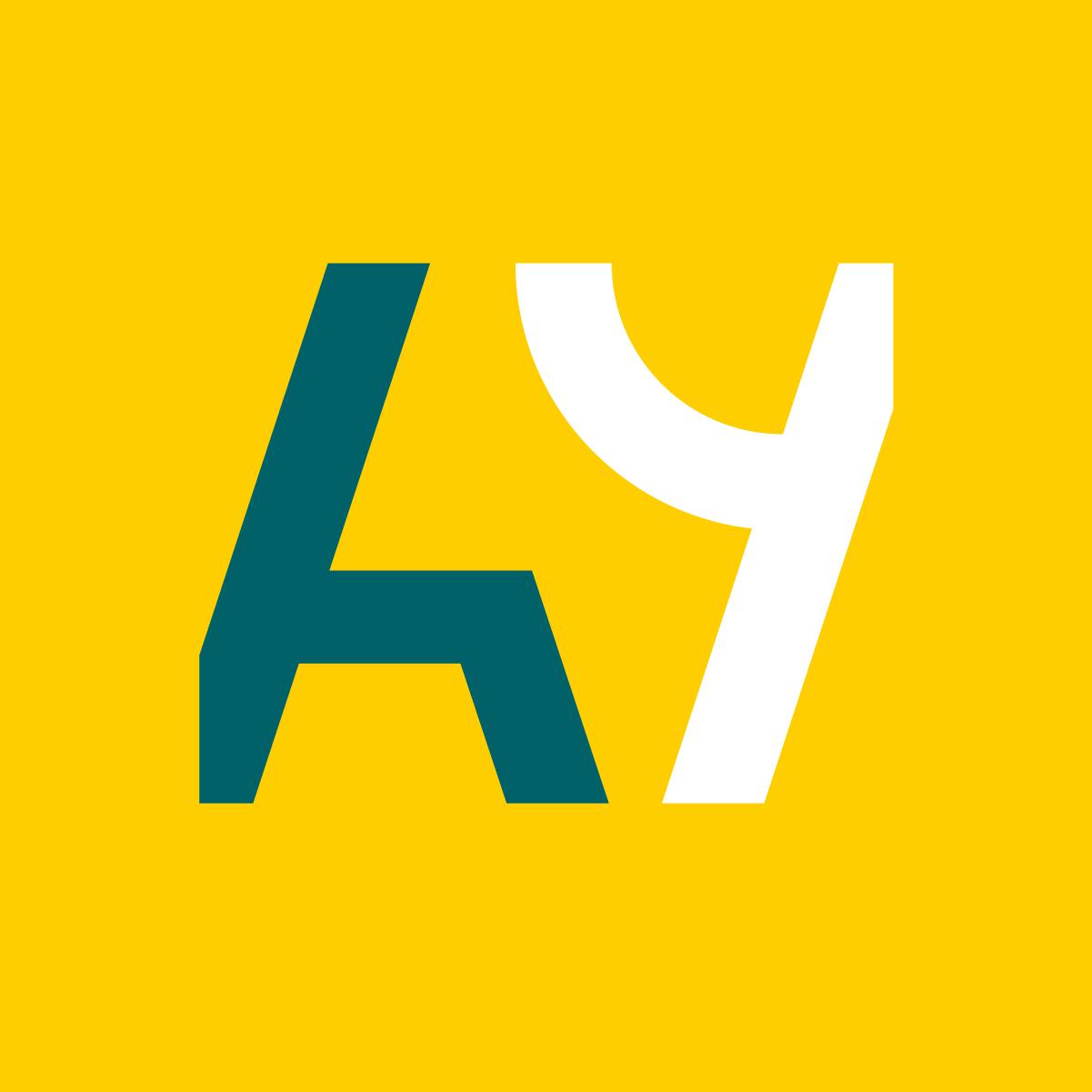Alue ja ympäristö -logo